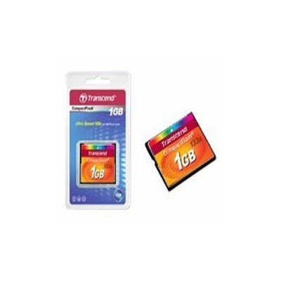 Transcend 133x CompactFlash Card - 1GB, Upto 50 MB/s(Read Rate), Upto Write 20 MB/s( Write Rate), 3.3V~5V, - 13F (Min