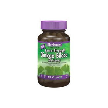 BlueBonnet Extra Strength Ginkgo Biloba Leaf Extract Supplement, 60 Count