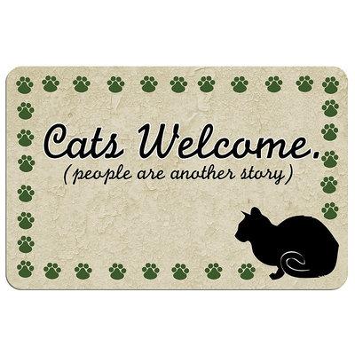 Kohls Paw-Print Cat Floor Mat
