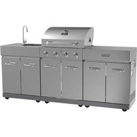 Zhongshan Junwei Meatal Products Co.,ltd. Better Homes and Gardens 4-Burner Stainless Steel Gas Island (Box 1 of 3)