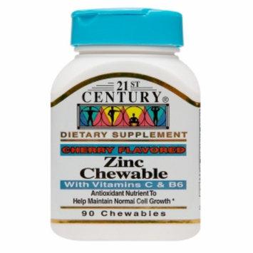 21st Century Zinc Chewable with Vitamins C & B6, Cherry, 90 ea