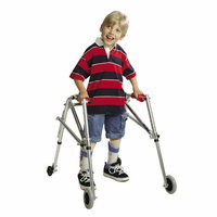 Kaye Products Wide Pre-Adolescent's Walker with Silent Wheels and Legs