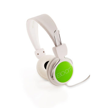 Boom Movement Boom BOOM Renegade On-Ear Headphones (White/Green)