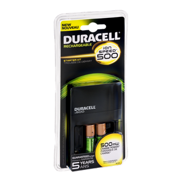 Duracell Ion Speed 500 Battery Charger Starter Kit