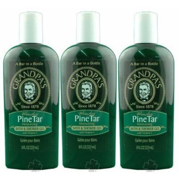 Grandpa Brands Company Pine Tar Bath & Shower Gel 8oz - 3 Pack