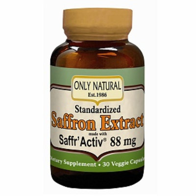 Only Natural Saffron Extract 88.5 mg 30 Vcaps