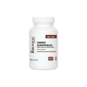 Bronson Labs: Carrot Acidophilus 500 Mg 100 Capsules