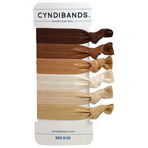 CyndiBands Set of 6 Hair Ties, Diesel, .3 oz