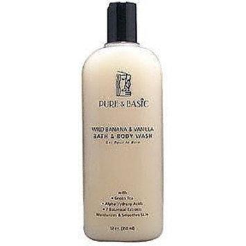 Pure & Basic Body Wash Vanilla/Banana 12 oz
