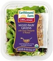 Earthbound Farm Organic Mixed Baby Greens Grab & Go Salad Kit