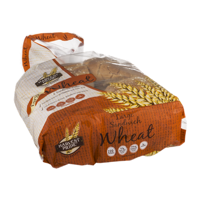 Harvest Pride Wheat Sandwich Rolls Large - 8 CT