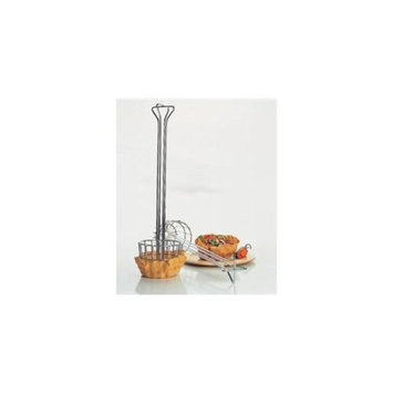Focus Foodservice 470 Large tortilla fryer basket, chrome plated, 6. 25 inch x 25 inch h - Pack of 2