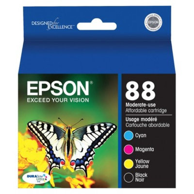 Epson T088120-BCS Combo Pack Printer Ink Cartridge - Multicolor