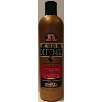 Daily Defense Keratin Enriched Moisturizing Shampoo 16oz (Pack of 4)