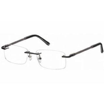 Montblanc Men's Designer Eyewear, Shiny Black, 55-17-145