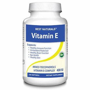 Best Naturals Vitamin E 400 IU with Tocopherols, 240 Softgels