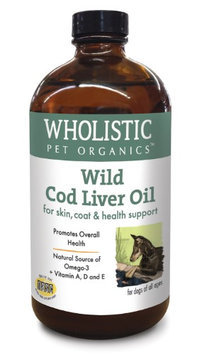 Wholistic Pet Organics Wild Cod Liver Oil for Dogs, 8 fl oz