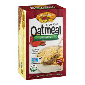 Country Choice Oatmeal Apple Spice - 8 CT