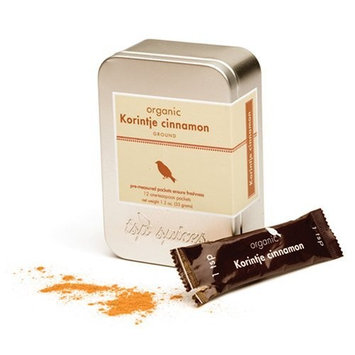 Tsp Spices Ground Organic Korintje Cinnamon (cassia), 12 One-teaspoon Packets, 1.2-Ounce Tins (Pack of 3)