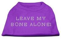 Mirage Pet Products 5242 XXLPR Leave My Bone Alone Rhinestone Shirts Purple XXL 18