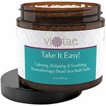Stress Reduction, Relaxation & Soothing Aromatherapy Dead Sea Bath Salts - 'Take It Easy' 16oz