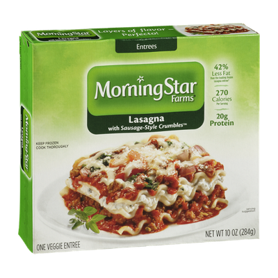 MorningStar Farms Lasagna Entree with Sausage-Style Crumbles