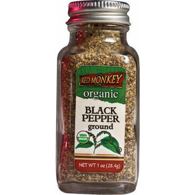 Red Monkey Foods Black Pepper, Ground, 1-Ounce Bottles (Pack of 3)