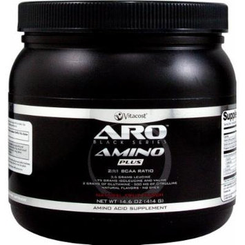 ARO-Vitacost Black Series Amino Plus - BCAA Natural Fruit Punch -- 14.6 oz (414 g)