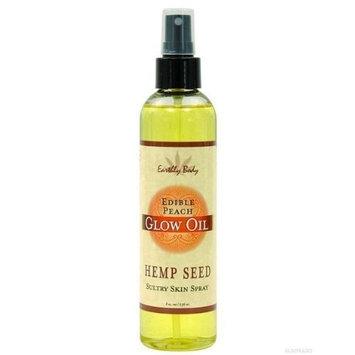 Earthly Body Glow Oil Edible, Peach, 8 Ounce
