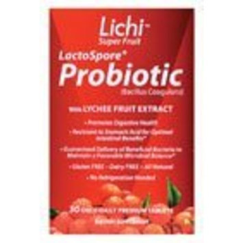 Bainbridge and Knight Lichi Super Fruit Probiotic - 30 Day Supply - 30 Tablets