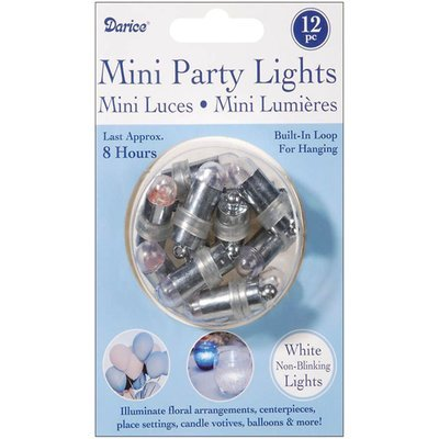 Darice Non-Blinking Mini Party Lites 12/Pkg-White