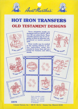 Aunt Martha's Iron-On Transfer Collections-Old Testament Motifs