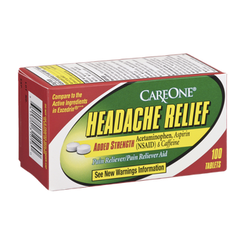 CareOne Headache Relief Added Strength Pain Reliever - 100 CT