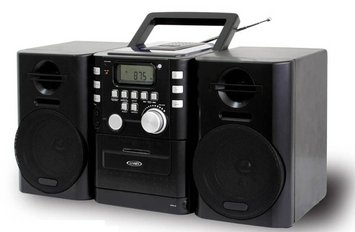 Jensen Portable CD Music System with Cassette and FM Stereo Radio