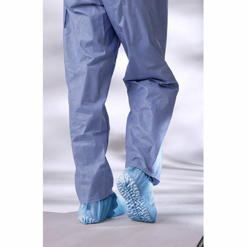 Medline Non-Skid Spun Bond Poly Shoe Cover in Blue
