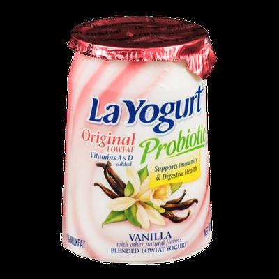 La Yogurt Probiotic Original Low Fat Yogurt Vanilla