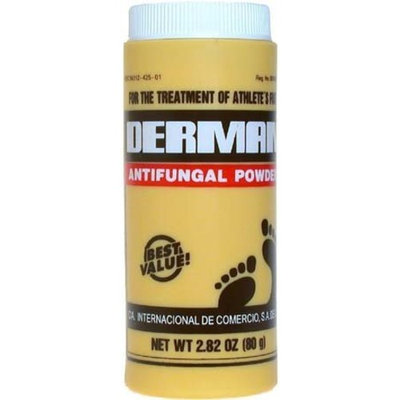 Derman Antifungal Powder for Treatment of Athlete's Foot 80g/2.82oz
