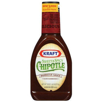 Kraft Foods Kraft Sweet & Spicy Chipotle Barbecue Sauce, 18 Ounce Bottle (Pack of 12)