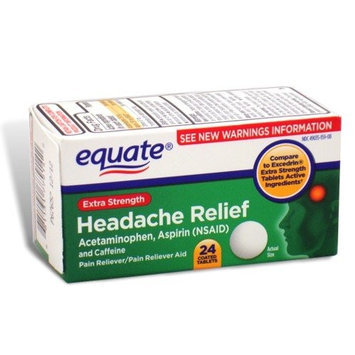 Equate - Headache Relief, Extra Strength, Acetaminophen, Aspirin and Caffeine, 24 Coated Tablets
