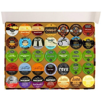 Crazy Cups Coffee and Tea Deluxe Sampler, Single-cup pack sampler for Keurig Single serve cup Brewers, 105-Count