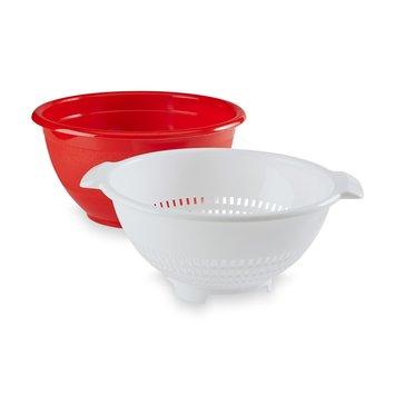 Arrow Plastic Mfg. Co. 6-Quart Bowl & 4-Quart Colander