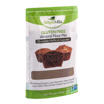 Simple Mills Gluten Free Almond Flour Mix Chocolate Muffin & Cupcake