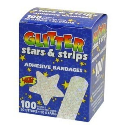 Dermarite Sheer Strip ,3/4x3, Glitter Strips, Box/100