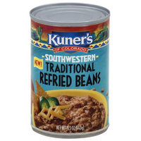 Kuner's of Colorado Southwestern Traditional Refried Beans, 15.5 oz,(Pack of 6)