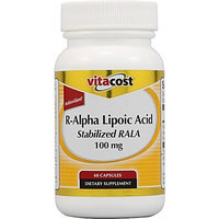 Vitacost Brand Vitacost R-Alpha Lipoic Acid Stabilized RALA -- 100 mg - 60 Capsules