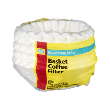 Guaranteed Value 8-12 Cup Basket-Style Coffeemaker Basket Coffee Filter - 250 CT
