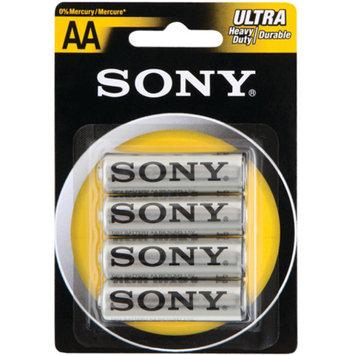 Sony S-SUM3NUB2A Heavy Duty/Carbon Zinc Batteries, 4pk