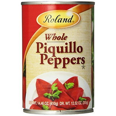 Roland Whole Piquillo Peppers, 14.46 Ounce Cans (Pack of 4)