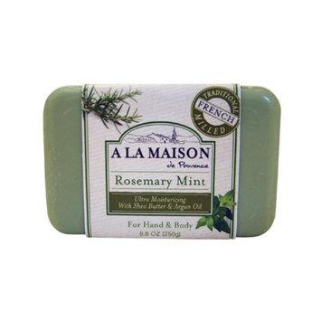 A La Maison 844753 Bar Soap Rosemary Mint 8.8 Oz