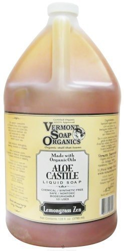 Vermont Soapworks - Aloe Castile Liquid Soap Lemongrass Zen - 1 Gallon
